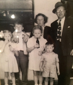 The Inhulsens (Oma, Opa, Aunt Rie, Uncle Bep and Aunt Joe) Arrive in America